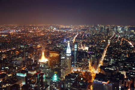 New York City aerial view with Manhattan skyline and skyscrapers. photo