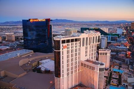 Las Vegas, Nevada - March 3,  Aerial view of Las Vegas hotel Planet Hollywood, March 3, 2010 in Las Vegas, Nevada.