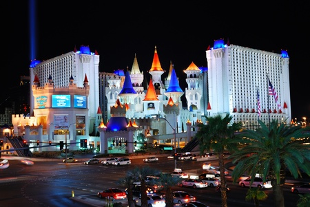 LAS VEGAS - MAR 4: Excalibur Casino and Hotel, named for the mythical sword of King Arthur, features the Arthurian theme in Las Vegas Strip. March 4, 2010 in Las Vegas, Nevada.  Stock Photo - 8461819