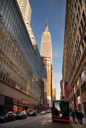 NEW YORK CITY - SEP 11: Fifth Avenue, as a symbol of wealthy New York and one of the most expensive streets in the world, with Empire State Building, September 11, 2010 in Manhattan, New York City. Stock Photo - 8500613