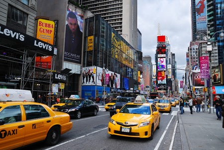 NEW YORK CITY - SEP 5: Times Square, featured with Broadway Theaters and LED signs, is a symbol of New York City and the United States, September 5, 2009 in Manhattan, New York City. Stock Photo - 8500622