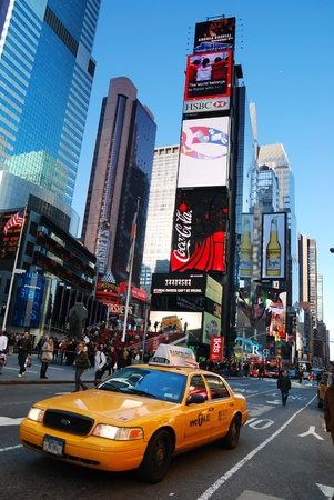 NEW YORK CITY - SEP 5: Times Square, featured with Broadway Theaters and  LED signs, is a symbol of New York City and the United States, September 5, 2009 in Manhattan, New York City. Stock Photo - 8500621
