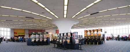 ranked: LAS VEGAS - MAR 4: McCarran International Airport, ranked 15th in the world for passenger traffic, is the principal commercial airport serving Las Vegas and Clark County. Editorial