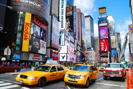 NEW YORK CITY - SEP 5: Times Square, featured with Broadway Theaters and LED signs, is a symbol of New York City and the United States, September 5, 2010 in Manhattan, New York City. Stock Photo - 8533030