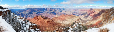 Grand Canyon panorama view in winter with snow and clear blue sky. Stock Photo - 8551292