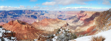 Grand Canyon panorama view in winter with snow and clear blue sky. Stock Photo - 8586548