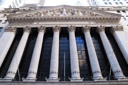 NEW YORK CITY - AUG 8: Wall Street New York Stock Exchange, der weltweit größte Börse nach Marktkapitalisierung seine börsennotierter Gesellschaften. August 8, 2010 in Manhattan, New York City. Standard-Bild - 8559015