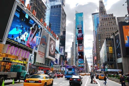 NEW YORK CITY - SEP 5: Times Square, featured with Broadway Theaters and LED signs, is a symbol of New York City and the United States, September 5, 2010 in Manhattan, New York City. Stock Photo - 8559040