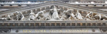 stock: NEW YORK CITY - JAN 1: New York Stock Exchange in Manhattan Wall Street Finance district during United States economy recovery, January 1, 2010 in Manhattan, New York City.