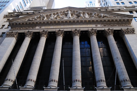 new york stock exchange: NEW YORK CITY - AUG 8: Wall Street New York Stock Exchange, the worlds largest stock exchange by market capitalization of its listed companies. August 8, 2010 in Manhattan, New York City.