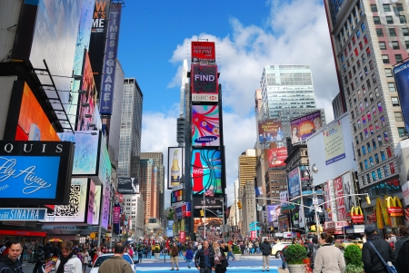 times square: NEW YORK CITY - SEP 5: Times Square, featured with Broadway Theaters and LED signs, is a symbol of New York City and the United States, September 5, 2009 in Manhattan, New York City.