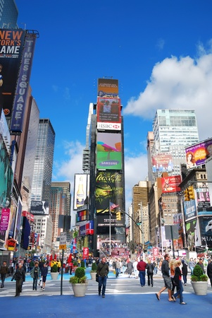 NEW YORK CITY - SEP 5: Times Square, featured with Broadway Theaters and LED signs, is a symbol of New York City and the United States, September 5, 2009 in Manhattan, New York City. Stock Photo - 8645049