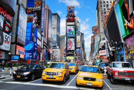 NEW YORK CITY - SEP 5: Times Square, featured with Broadway Theaters and LED signs, is a symbol of New York City and the United States, September 5, 2010 in Manhattan, New York City. Stock Photo - 8645109