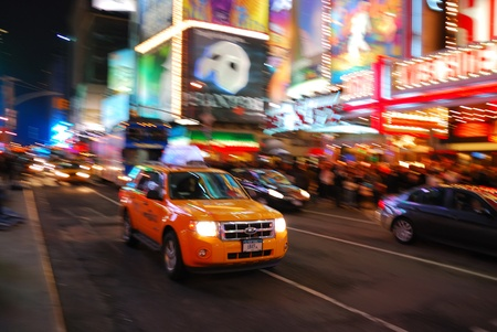 NEW YORK CITY - SEP 5: Times Square, featured with Broadway Theaters and  animated LED signs, is a symbol of New York City and the United States,  September 5, 2009 in Manhattan, New York City.  Stock Photo - 8645040