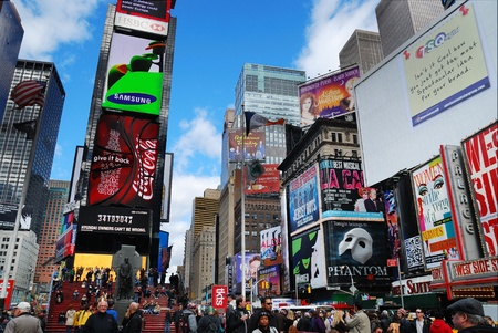 NEW YORK CITY - SEP 5: Times Square, featured with Broadway Theaters and LED signs, is a symbol of New York City and the United States, September 5, 2009 in Manhattan, New York City. Stock Photo - 8790808