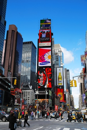 NEW YORK CITY - SEP 5: Times Square, featured with Broadway Theaters and LED signs, is a symbol of New York City and the United States, September 5, 2010 in Manhattan, New York City. Reklamní fotografie - 8790802