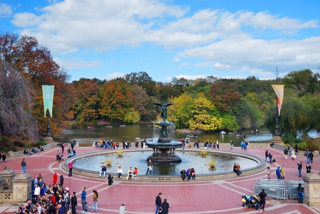NEW YORK CITY - Oct 21: Central Park, a National Historic Landmark since 1963 with 25 million annual visitors, is the most visited urban park in the United States. October 21, 2010 in Manhattan, New York City.