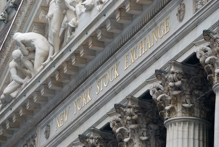 stock market exchange: NEW YORK CITY - AUG 8: Wall Street New York Stock Exchange, the worlds largest stock exchange by market capitalization of its listed companies. August 8, 2010 in Manhattan, New York City.