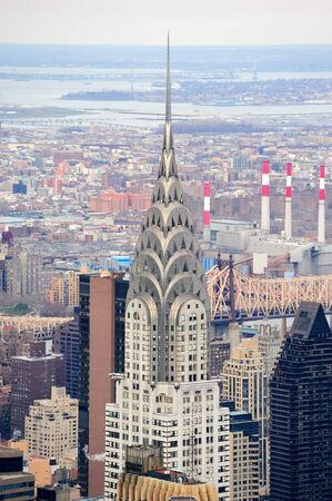 NEW YORK CITY, NY, USA - MAR 30: The Chrysler Building was designed by architect William Van Alena as Art Deco architecture and the famous landmark. March 30 in Manhattan, New York City.