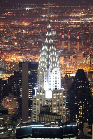 NEW YORK CITY, NY, USA - MAR 30: The Chrysler Building was designed by architect William Van Alena as Art Deco architecture and the famous landmark. March 30 in Manhattan, New York City. Stock Photo - 9364109