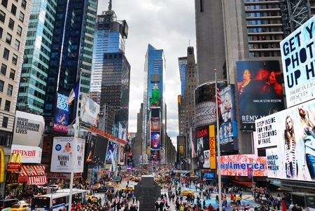 NEW YORK CITY - SEP 5: Times Square, featured with Broadway Theaters and LED signs, is a symbol of New York City and the United States, September 5, 2010 in Manhattan, New York City. Stock Photo - 9364102