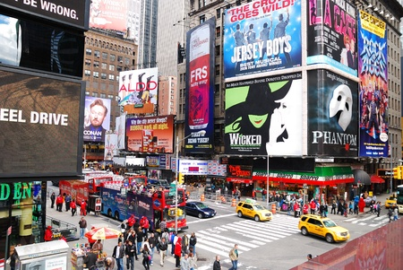 square: NEW YORK CITY - SEP 5: Times Square, featured with Broadway Theaters and LED signs, is a symbol of New York City and the United States, September 5, 2010 in Manhattan, New York City.