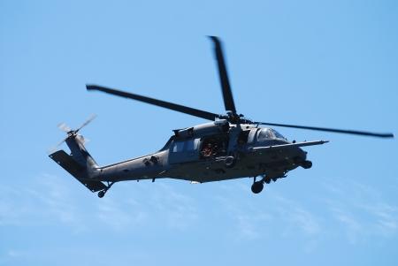 JONES BEACH - MAY 30: US Army UH-60 Black Hawk helicopter on Jones Beach Air Show on May 30, 2010 in Jones Beach, New York.