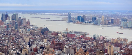 New Jersey panorama view from New York City Manhattan with Hudson River and skyscrapers. Stock Photo - 9366092