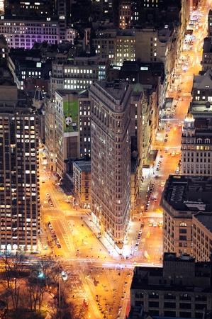 designated: NEW YORK CITY, NY, USA - MAR 30: Flatiron Building was designed by Chicagos Daniel Burnham and was designated a New York City landmark in 1966. March 30, 2011 in Manhattan, New York City.