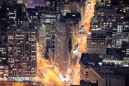 NEW YORK CITY, NY, USA - MAR 30: Flatiron Building was designed by Chicago's Daniel Burnham and was designated a New York City landmark in 1966. March 30, 2011 in Manhattan, New York City. Stock Photo - 9444813