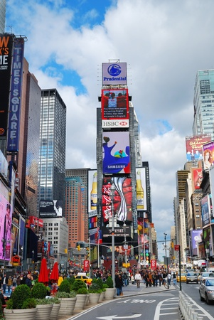 sep: NEW YORK CITY - SEP 5: Times Square, featured with Broadway Theaters and LED signs, is a symbol of New York City and the United States, September 5, 2009 in Manhattan, New York City.
