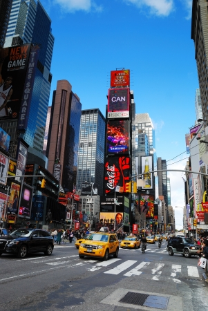 NEW YORK CITY - SEP 5: Times Square, featured with Broadway Theaters and LED signs, is a symbol of New York City and the United States, September 5, 2010 in Manhattan, New York City. Stock Photo - 9444830