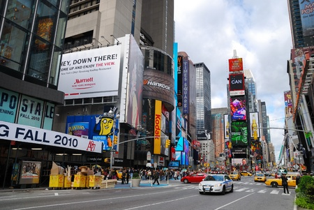 NEW YORK CITY - SEP 5: Times Square, featured with Broadway Theaters and LED signs, is a symbol of New York City and the United States, September 5, 2009 in Manhattan, New York City. Stock Photo - 9475512