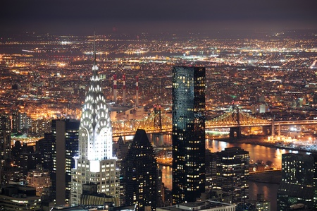 new york night: NEW YORK CITY, NY, USA - MAR 30: The Chrysler Building was designed by architect William Van Alena as Art Deco architecture and the famous landmark. March 30 in Manhattan, New York City.