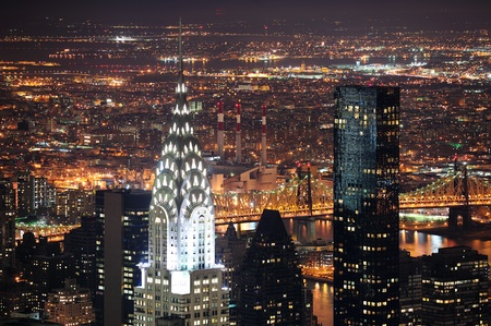 NEW YORK CITY, NY, USA - MAR 30: The Chrysler Building was designed by architect William Van Alena as Art Deco architecture and the famous landmark. March 30 in Manhattan, New York City. photo