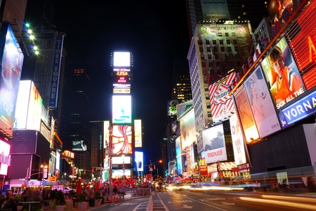 advertise with us: NEW YORK CITY - SEP 5: Times Square, featured with Broadway Theaters and huge number of animated LED signs, is a symbol of New York City and the United States,  September 5, 2009 in Manhattan, New York City.