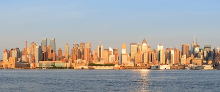 New York City Manhattan midtown skyline panorama at sunset. Stock Photo - 10603750