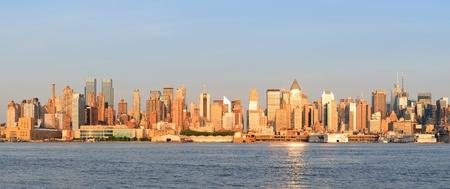 New York City Manhattan midtown skyline panorama at sunset. Stock Photo - 10603750
