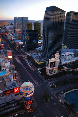 LAS VEGAS, NV - MAR 4: The Las Vegas Strip is 3.8 mile stretch featured with world class hotels and casino. March 4, 2010 in Las Vegas, Nevada.  Stock Photo - 10582062