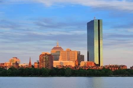Boston Charles River with urban city skyline at sunset Stock Photo - 11006584