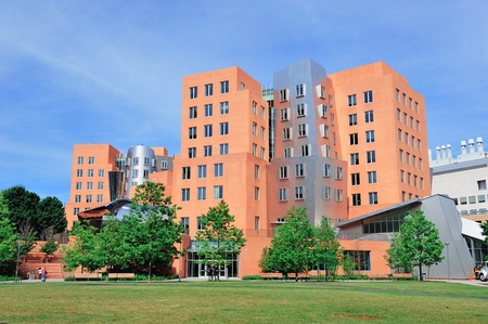 institute of technology: Office building in Massachusetts Institute of Technology campus in Boston. Editorial