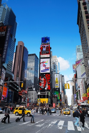 NEW YORK CITY - SEP 5: Times Square, featured with Broadway Theaters and LED signs, is a symbol of New York City and the United States, September 5, 2010 in Manhattan, New York City. Stock Photo - 10958237