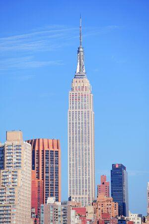 CIUDAD DE NUEVA YORK, NY - 10 de julio: El Empire State Building es un rascacielos de referencia 102-historia y fue el edificio más alto del mundo durante más de 40 años. 10 de julio 2011 en Manhattan, Nueva York.