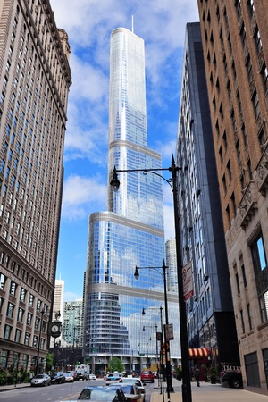 Trump Tower Chicago closeup
