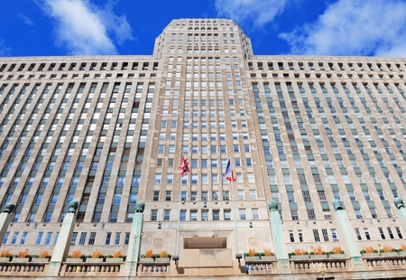 merchandise mart: CHICAGO, IL - Oct 1: Merchandise Mart closeup on October 1, 2011 in Chicago, Illinois. When opened in 1930, it was the largest building in the world with 4,000,000 square feet of floor space. Editorial