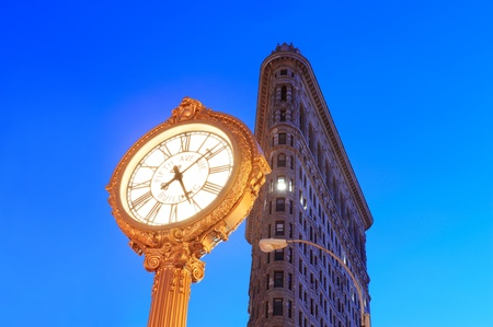 flatiron: NEW YORK CITY, NY - DEC 30: Flatiron Building at night on March 30, 2011 in New York City. Flatiron building designed by Chicagos Daniel Burnham was designated a New York City landmark in 1966.