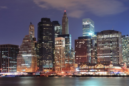 New York City Manhattan downtown urban city skyline photo