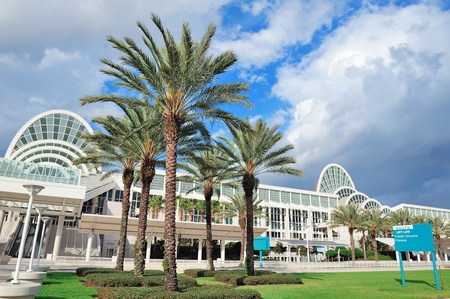 sq: ORLANDO, FL - FEB 6: The Orange County Convention Center on International Drive on February 6, 2012 in Orlando. It offers 7M sq ft space and ranks as the second largest convention center in the US. Editorial