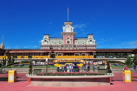 ORLANDO, FL - FEB 13: Magic Kingdom rail station on February 13, 2012 in Orlando, Florida. Magic Kingdom is the most visited theme park in the world attracting 17 million visitors in 2010. Stock Photo - 13021684