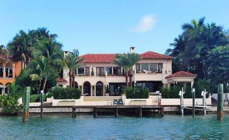 Luxury house on Hibiscus Island in downtown Miami, Florida.
